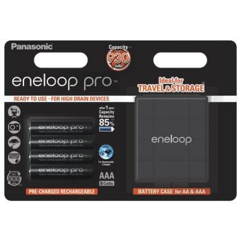 Аккумулятор Panasonic Eneloop Pro AAA 900 4BP 4шт. блистер c кейсом