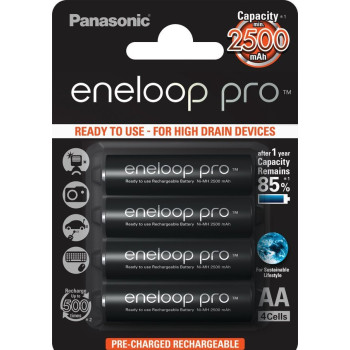 Аккумулятор Panasonic Eneloop Pro AA 2500 4BP 4шт. блистер