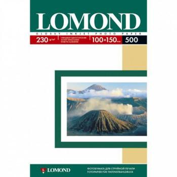 Фотобумага Lomond 0102082 10x15/230г/м2/500л./белый глянцевое для струйной печати