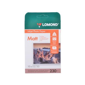 Фотобумага Lomond Одностороняя 230г/м2, A6 (10X15), 50л.