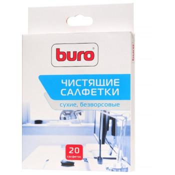 Салфетки чистящие Buro для экранов 20шт