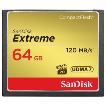 Карта памяти CF 64Gb SanDisk Extreme 120MB/s