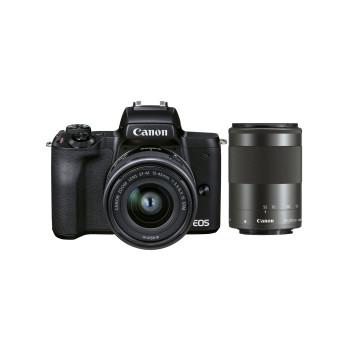 Фотокамера Canon EOS M50 Mark II 15-45 IS STM (Black) + 55-200 (Black)