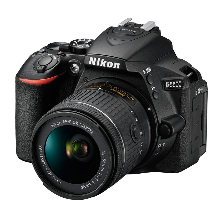 Зеркальная камера Nikon D5600 kit 18-55mm VR AF-P черный