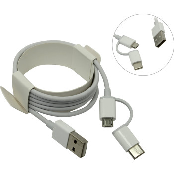 Кабель Xiaomi Mi 2-in-1 USB Cable Micro USB to Type C (100cm) SJV4082TY