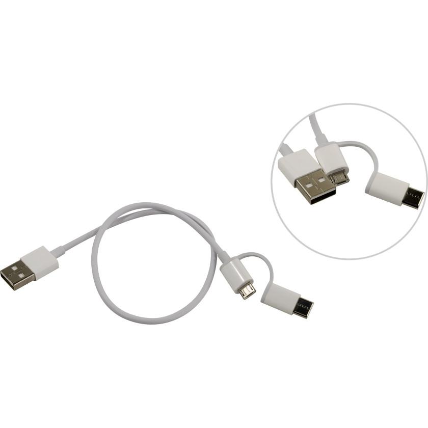 Кабель Xiaomi Mi 2-in-1 USB Cable Micro USB to Type C (30cm) SJV4083TY
