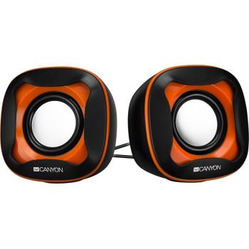 Колонки Canyon CNS-CSP202BO Black/Orange (3Вт x2, USB2.0) (CNS-CSP202BO)