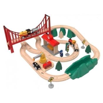 Деревянная железная дорога Xiaomi Mi Toy Train Set BEV4144TY