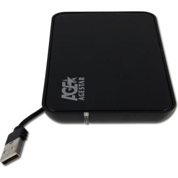 """Внешний корпус AgeStar для HDD SUB2A8 SATA пластик/сталь черный 2.5"""""""