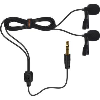 Микрофон петличный двойной Comica CVM-D02 (B4.5m)