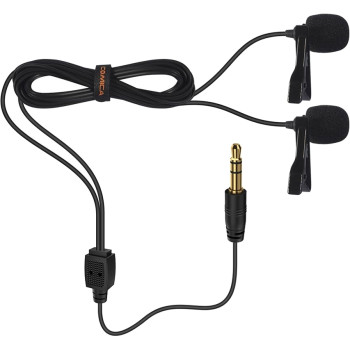 Микрофон петличный двойной Comica CVM-D02 (B6.0m)