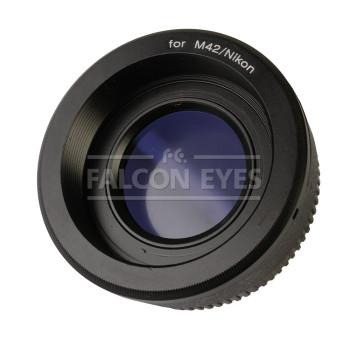 Переходное кольцо Falcon Eyes M42 на Nikon с линзой