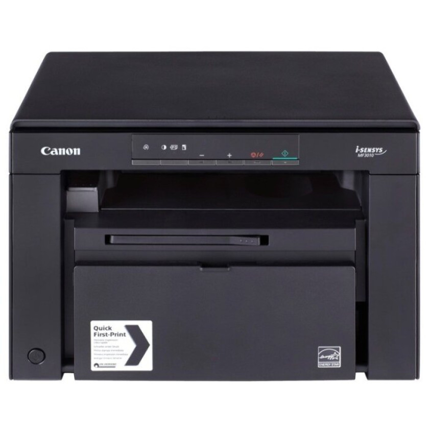 МФУ Canon i-SENSYS MF3010, лазерный принтер/сканер/копир A4, 18 стр/мин, 1200x600 dpi, 64 Мб, подача: 150 лист., вывод: 100 лист., USB (max 8000 стр/мес. Старт.к-ж 700 стр.)