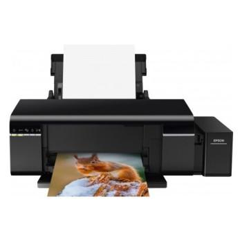 Принтер Epson L805, 6-цветный струйный СНПЧ A4, 37 (38 цв) стр/мин, 5760x1440 dpi, подача: 120 лист., вывод: 50 лист., USB, Wi-Fi, печать фотографий, печать на CD/DVD (старт.чернила - около 1800 фото