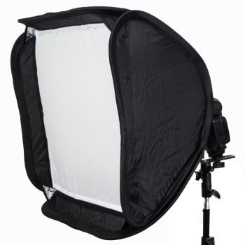 Софтбокс раскладной с кронштейном Lumifor LS-4040-F2 для фотовспышки 40см.