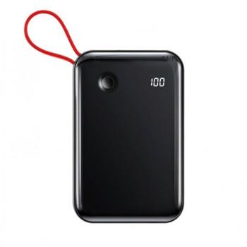 Внешний аккумулятор Baseus Mini S 3A 10000мАч (Type-C кабель) Чёрный