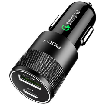 Автомобильная зарядка Rock H5 PD fast charge car черная