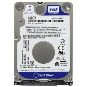 Жесткий диск Western Digital Original SATA-III 500Gb WD5000LPCX Blue (5400rpm) 16Mb 2.5""