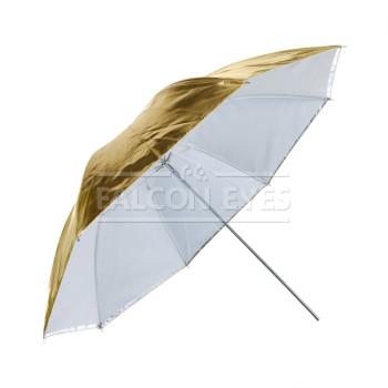 Фотозонт Falcon Eyes URK-32TGS Универсальный зонт 5 в 1, диаметр 70 см, просветный/золотистый/серебристый/просветный+золотистый/просвечивающий+серебристый.