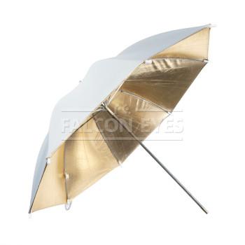 Фотозонт Falcon Eyes URN-48GW Двусторонний зонт, золотистый/белый отражающий, диаметр 90 см.