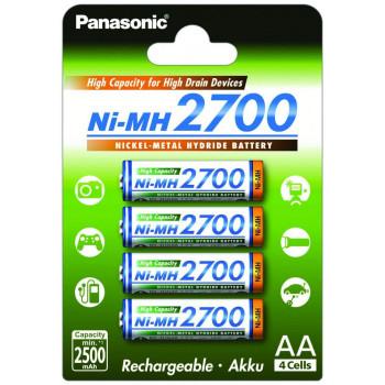 Аккумулятор Panasonic AA 2700 4BP (BK-3HGAE/4BE) 4шт. блистер