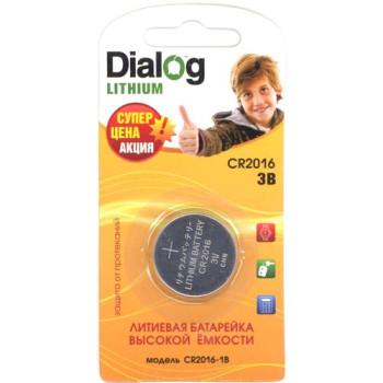 Батарейка литиевая Dialog CR2016 3V