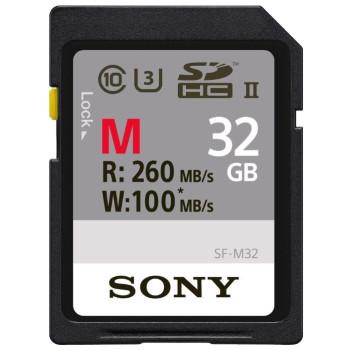 Флеш карта SDHC (SF-M32) Sony (32Gb, SD,) Class 10 100/260MB/s