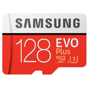 Карта памяти Samsung MicroSDXC Card EVO PLUS MB-MC128GA/RU (128GB, SD-адаптер, 90/100mb/s) Class 10